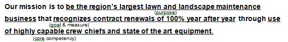 Lawn Mission Statement